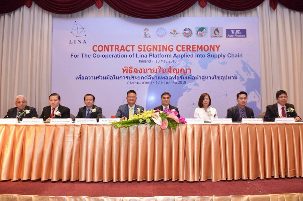 Lina Network in signing ceremony in Thailand