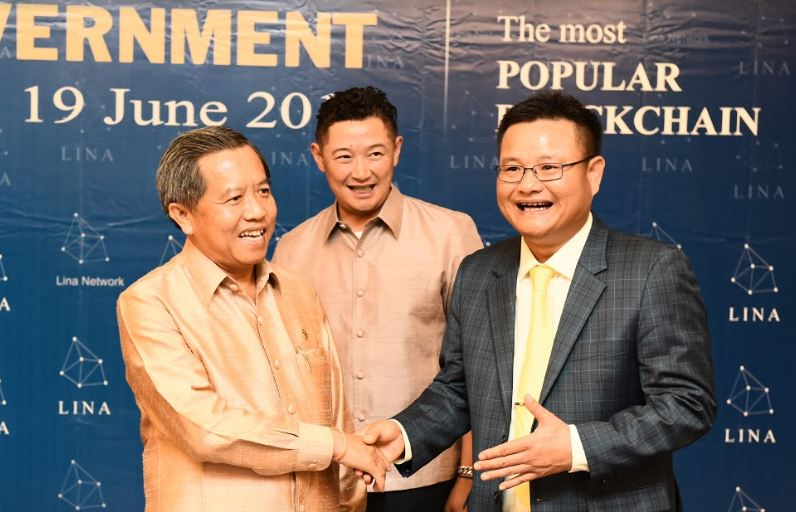 Lina Network signed MOU with Laos Government