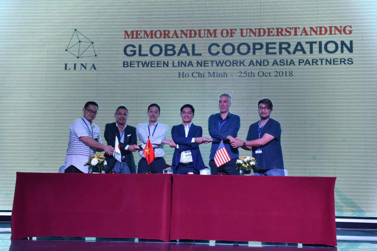 Signing MOU between Lina Network and Asia Partners